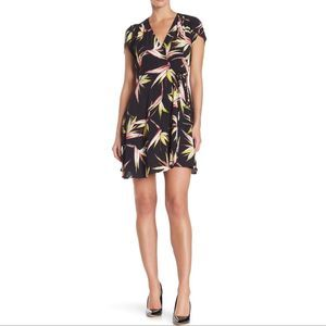 1.State Floral Casual Faux Wrap Dress